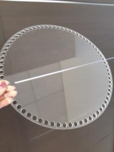 Прозрачное донышко из оргстекла, круг 30 см
