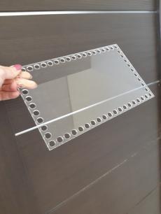 Прозрачное донышко из оргстекла, прямоугольник 25*15 см