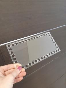 Прозрачное донышко из оргстекла, прямоугольник 20*10 см