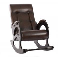Кресло качалка Модель 44 без декоративной косички коричневое