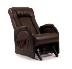 Кресло качалка глайдер Модель 48 без декоративной косички коричневое