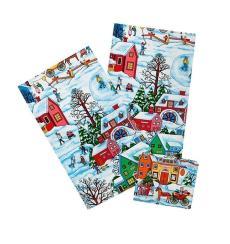 Набор полотенец 3 шт. в текстильной вазе Зимние каникулы