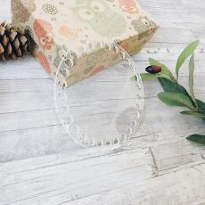 Прозрачное донышко из оргстекла, круг 12 см