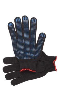"""Перчатки """"Рабочие"""" с ПВХ чёрные 5-и нитка (точка)"""