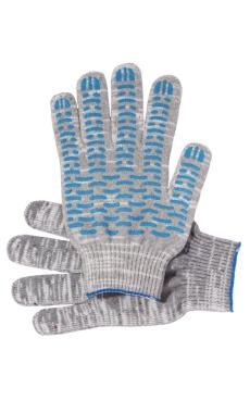 """Перчатки """"Рабочие"""" с ПВХ графит 5-и нитка (волна)"""