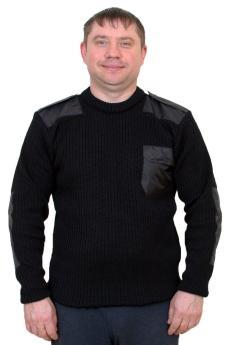 """Свитер """"Форменный"""" черный"""