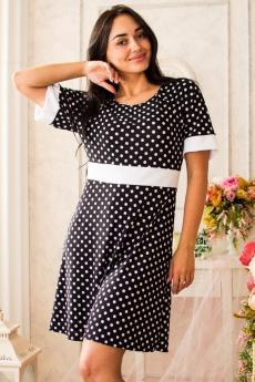 Платье П 031  (крупный горох)