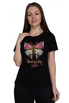 Футболка 924 Бабочка черный