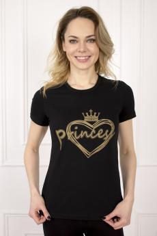 Футболка женская 486 Принцесса черный