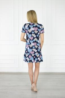 Платье 545 Сердце волан