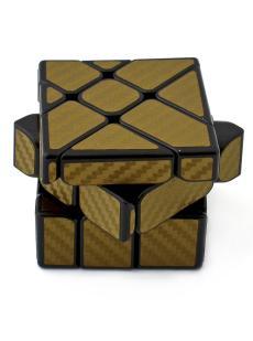 Кубик Фишера зеркальный «Carbon fibre Fisher mirrior cube» золотой