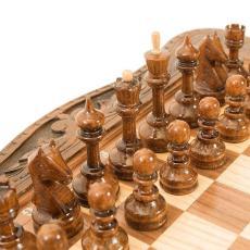 Нарды + шахматы + шашки «Гранаты» мастер Карен Халеян 3 в 1