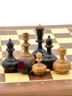 Шахматы «Бочата орех» доска панская