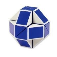 Головоломка «Змейка» 24 элемента синяя-белая