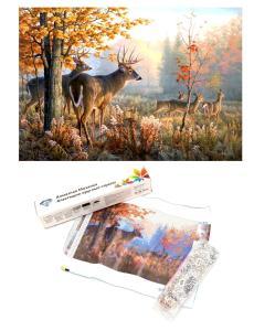 """Алмазная мозаика  """"Стадо оленей в осеннем лесу"""""""