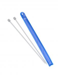 Спицы для вязания, диаметр 4,5 мм, длина 33 см, пластик, 2 шт