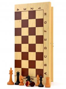 Шахматы «Купеческие» утяжелённые фигуры из бука