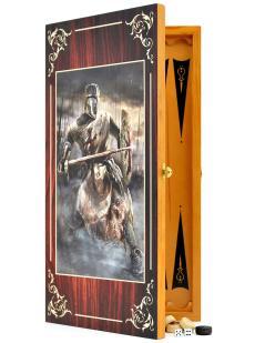 Нарды + шашки «Средневековый рыцарь» 2в1