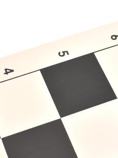 Шахматная доска «Виниловая» чёрно-белая маленькая