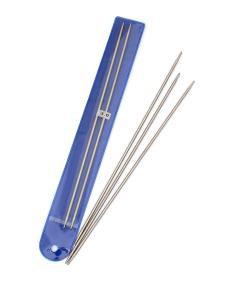 Спицы носочные, диаметр 3 мм, длина 24 см, металл, 5 шт