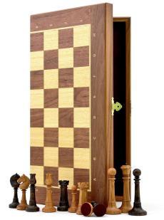 Шахматы «Элеганс орех» доска панская