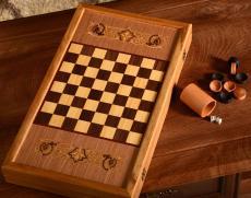 Нарды + шашки «Георгий Победоносец» дуб