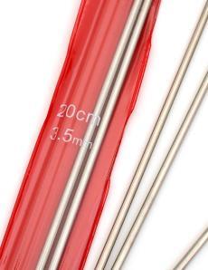 Спицы носочные, диаметр 3,5 мм, длина 20 см, металл, 5 шт
