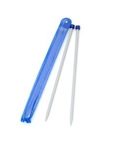 Спицы для вязания, диаметр 9 мм, длина 33 см, пластик, 2 шт
