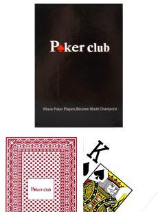 Карты «Poker club»  красные
