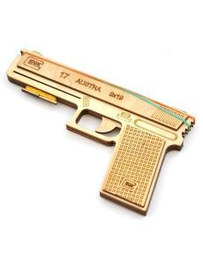 Конструктор «Glok» 3D пистолет резинкострел