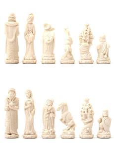Шахматные фигуры «Русские сказки» каменные