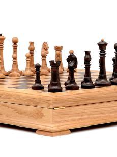 Шахматы «Элеганс» ларец стаунтон дуб