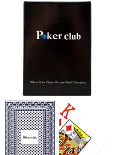 Карты «Poker club» синие