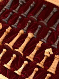Шахматы с резными фигурами «Элеганс» бук