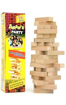 Дженга «Молодёжная вечеринка» 54 бруска с заданиями