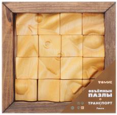 Деревянный пазл с 3D эффектом «Ракета» 16 элементов