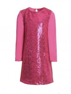 ПЛ-297 Платье Дженифер (петельчатый футер + пайетки)
