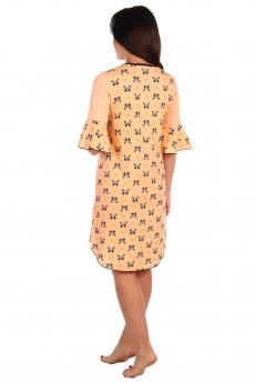 Ночная сорочка Баттерфляй персик