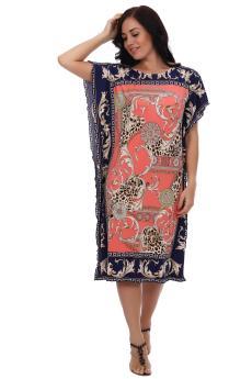 Платье туника Тайна востока коралл