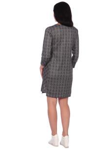 Платье-туника Барышня коричневый
