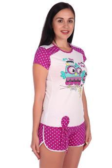 Пижама Совушка лиловый