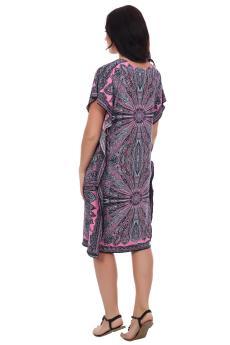 Платье туника Тайна востока розовый