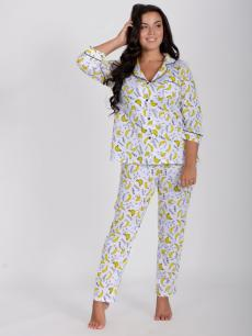 Пижама Классика бананы, трикотаж
