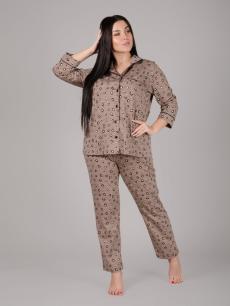 Пижама Люкс леопард, трикотаж