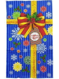 Полотенце Новый год 35х60 купон, ваф. полотно