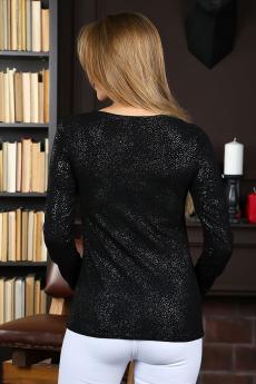 Блузка свободного кроя Ф 133 (Черная)