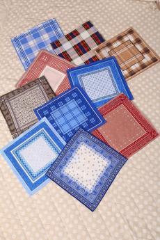 Платки носовые мужские (набор 10 шт)