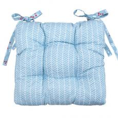Сидушка на стул с завязками Новый год, рогожка, 100% хлопок, Шишки
