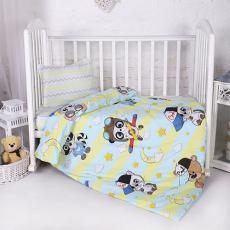 КПБ BabyRelax детский ясельный, перкаль, 100 % хлопок, пл. 105 гр./кв.м., Малыши мальчики