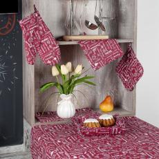 Текстильная ваза Правила кухни, рогожка, 100 % хлопок, Вишня